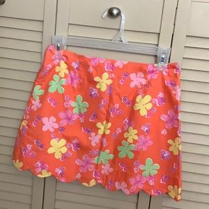 Lilly Pulitzer scallop mini skirt, 6p